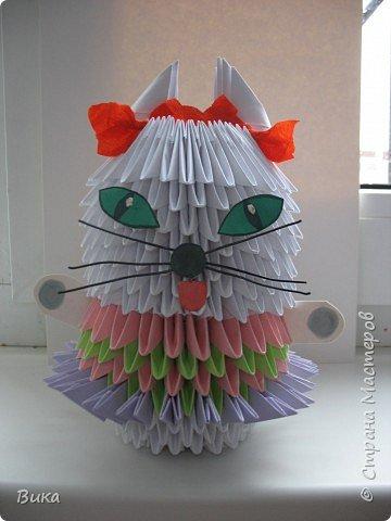 Оригами модульное: киска