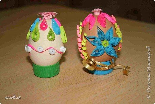 Квиллинг: пасхальные яйца