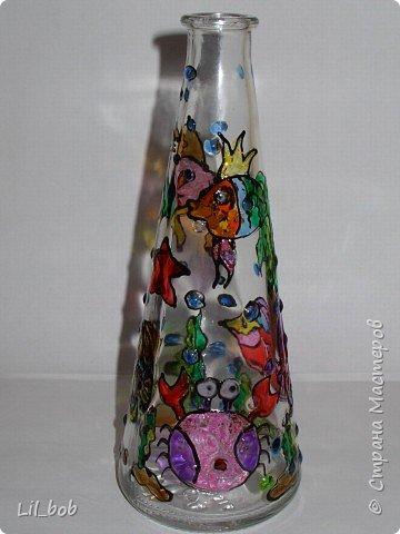 Витраж: Витражная роспись декоративных бутылочек фото 7