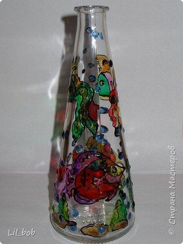 Витраж: Витражная роспись декоративных бутылочек фото 5