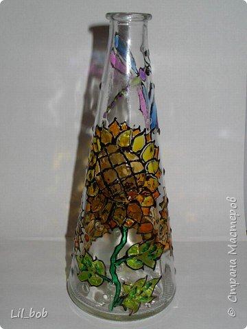 Витраж: Витражная роспись декоративных бутылочек фото 4