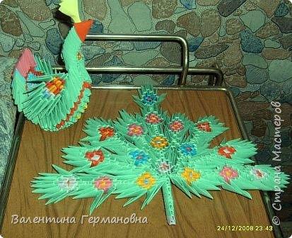 Оригами модульное: Павлин. Еще одна трансформация. фото 2