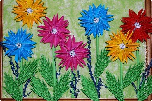 Оригами модульное: полевые цветы