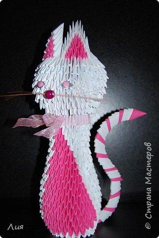 Оригами модульное: Кошка