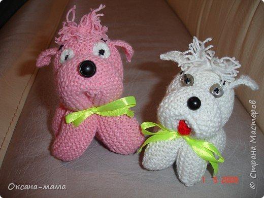 Вязание спицами: А это наши песики...