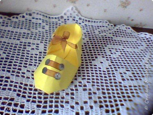 Оригами: Башмачки :) фото 6