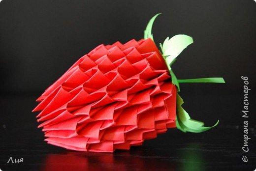 Оригами модульное: Клубничка  фото 2