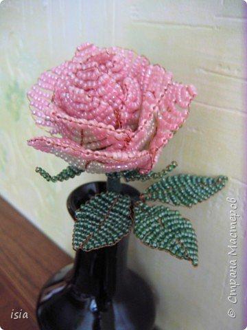 Бисероплетение: Розочка