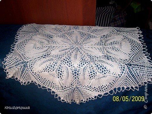 Вязание спицами: салфетка