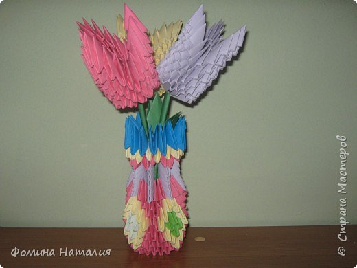 Оригами модульное: цветы