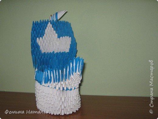 Оригами модульное: кораблик фото 2
