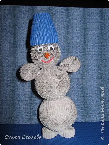 Квиллинг: Снеговик