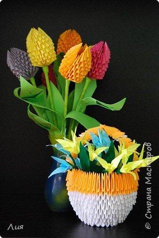 Оригами модульное: Весенние цветы