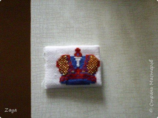 вышитая корона на мужской халат