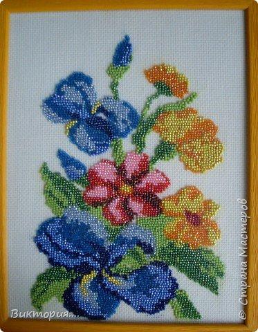 Вышивка: Цветочный букет
