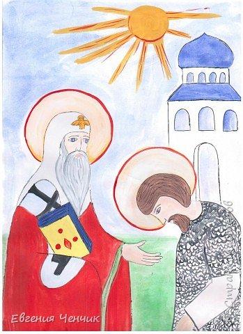 Митрополит Алексий благославляет святого воина фото 1