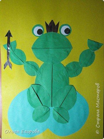 Аппликация: Царевна - лягушка