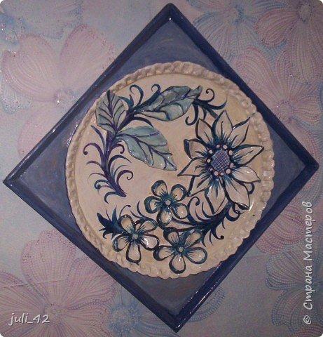Лепка: Панно в бело-голубом цвете фото 2