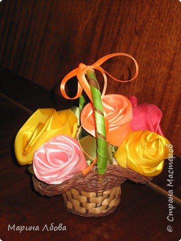 Розы в карзинке фото 1