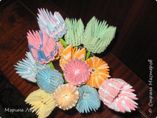 Оригами модульное: Тюльпанчики фото 2