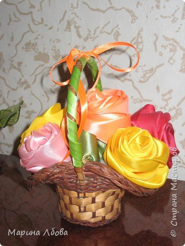 Розы в карзинке фото 2