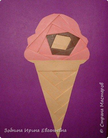 Айрис фолдинг: Фруктовое мороженое фото 2