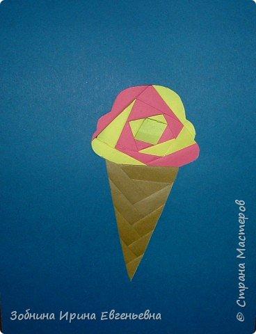 Айрис фолдинг: Фруктовое мороженое фото 3