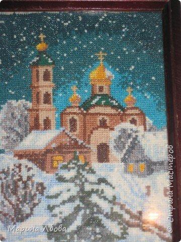 """Вышивка крестом: вышивка """"На кануне Рождества"""" фото 1"""