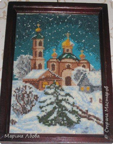 """Вышивка крестом: вышивка """"На кануне Рождества"""" фото 2"""
