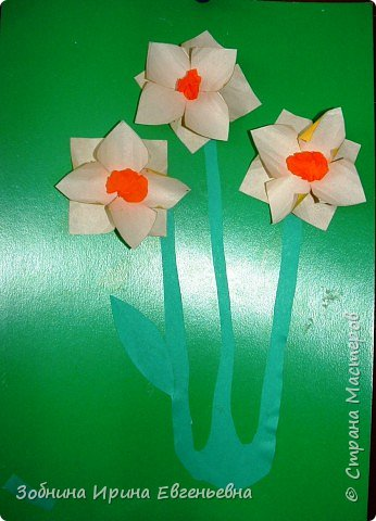 Аппликация: Первые цветы фото 1