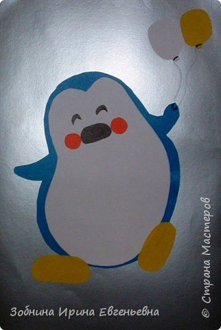 Аппликация: Пингвин фото 4