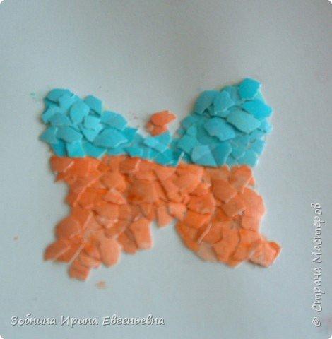 Аппликация: Разноцветные скорлупки фото 3