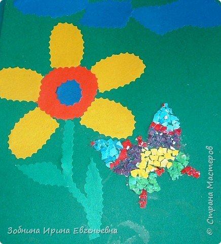 Аппликация: Разноцветные скорлупки фото 1