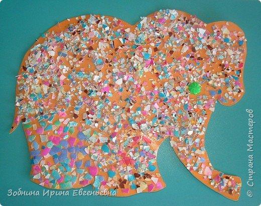 Аппликация: Разноцветные скорлупки фото 2