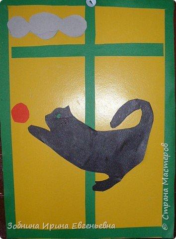 Аппликация: Села кошка на окошко фото 4