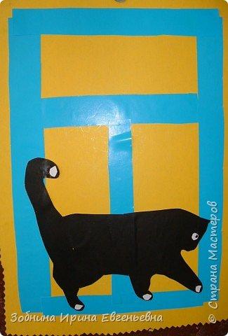 Аппликация: Села кошка на окошко фото 6