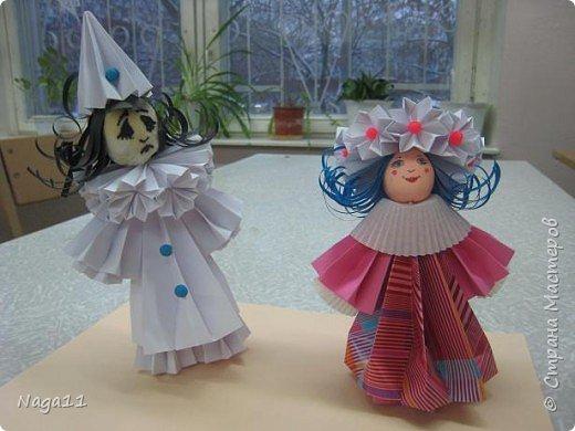 Оригами модульное: куклы из бумаги