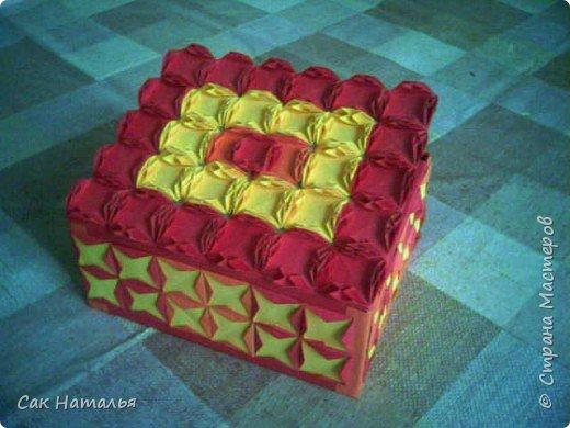 Оригами: шкатулка