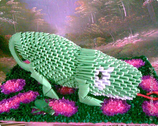 Оригами модульное: Хамелеон фото 1