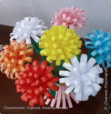 Бумагопластика: Хризантемы фото 2
