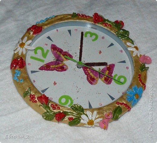 Лепка: Часы в оформлении солёным тестом