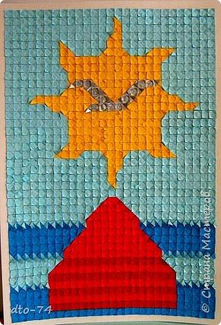 Оригами модульное: Символ Советского района города Красноярска