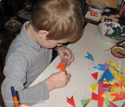 Оригами модульное: Подарок бабушке фото 1