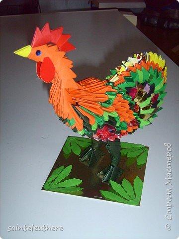 Оригами модульное: петушки фото 1