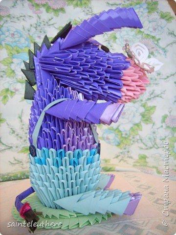 Оригами модульное: ослик  фото 2