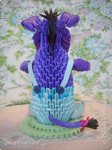 Оригами модульное: ослик  фото 3