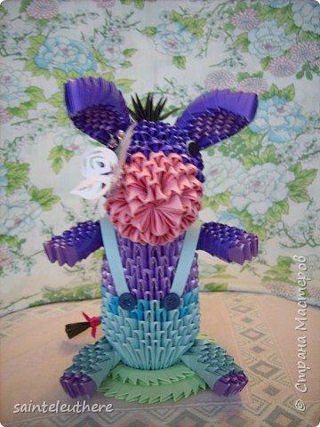Оригами модульное: ослик  фото 4