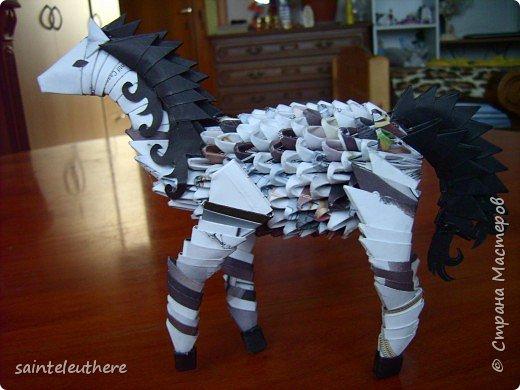 Оригами модульное: лошадка фото 1