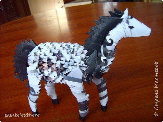 Оригами модульное: лошадка фото 2