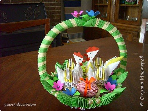 Оригами модульное: пасхальная композиция фото 1